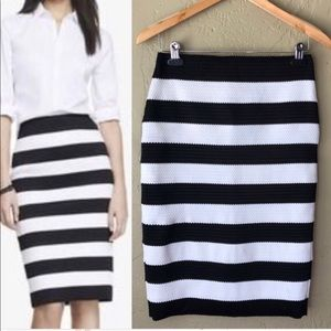 Express Striped Bandage Pencil Skirt